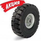 Большегрузное колесо VLE 410/30-90k «Blickle» с суперэластичной цельнолитой резиновой шиной