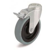 Поворотный ролик LRA-VPA «Blickle» Ø 75 мм с центральным крепежным отверстием с тормозом
